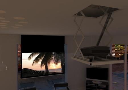 Ecran motorisé videoprojecteur : Concept Built-In Electrol, encastrable dans votre faux-plafond