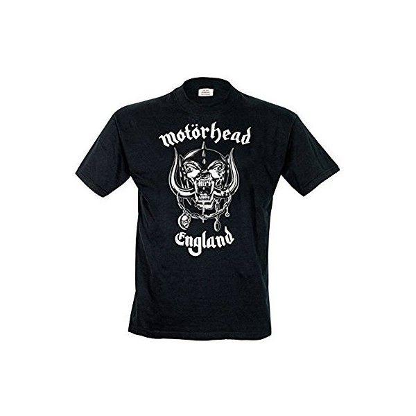 Rock Off Men's Motorhead England Regular Fit Round Collar Short Sleeve... ($12) ❤ liked on Polyvore featuring men's fashion, men's clothing, men's shirts, men's t-shirts, mens shirts, mens round collar shirt, men's regular fit shirts, mens t shirts and mens short sleeve shirts