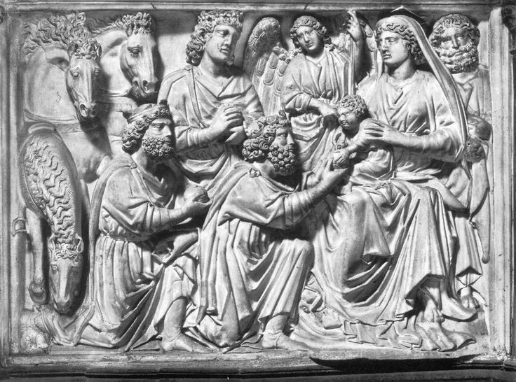 Nicola Pisano, Adoration of the Magi, 1260 Marble, 85 x 113 cm, Baptistry, Pisa