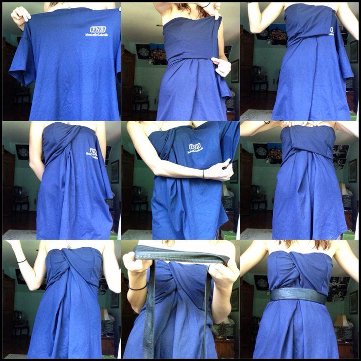 DIY shirt dress.
