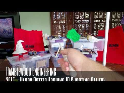 (23) Ramblewood Engineering Harry Potter Themed Arduino IR Shooting Gallery - YouTube