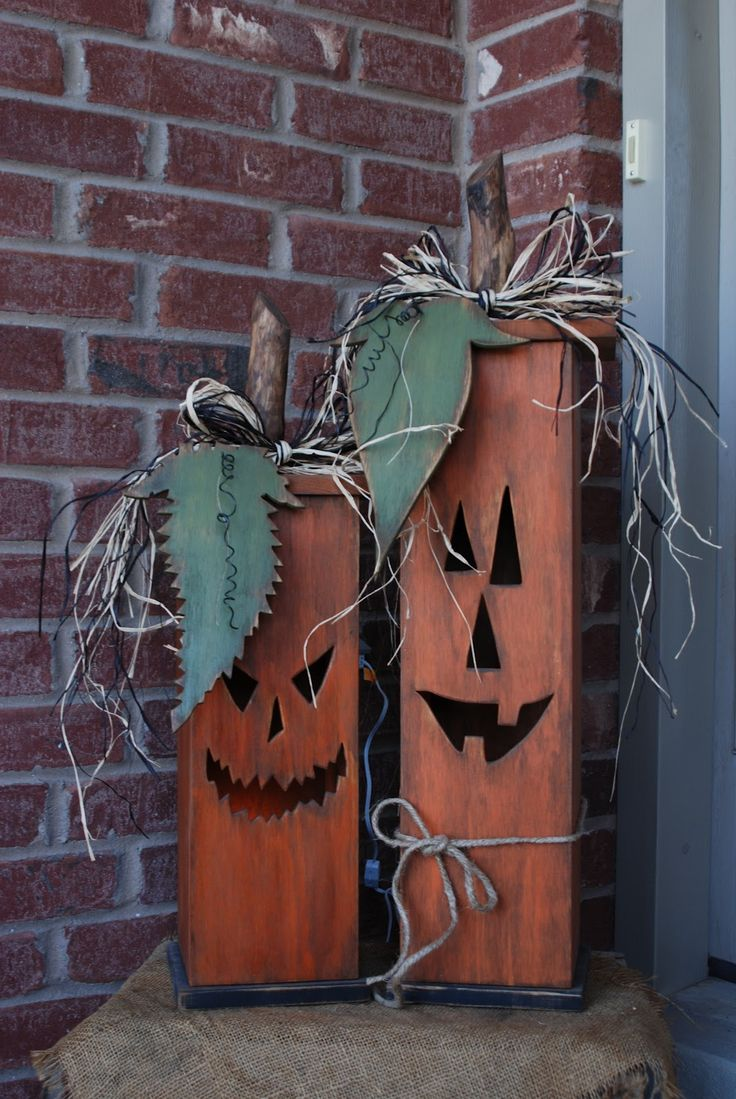 Primitive fall wood crafts - Fall Wood Crafts Wasatch Wood Crafts Lighted Jack O Lantern Boxes