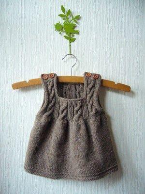 Kız Bebeklere Örgü Elbise Modelleri 42