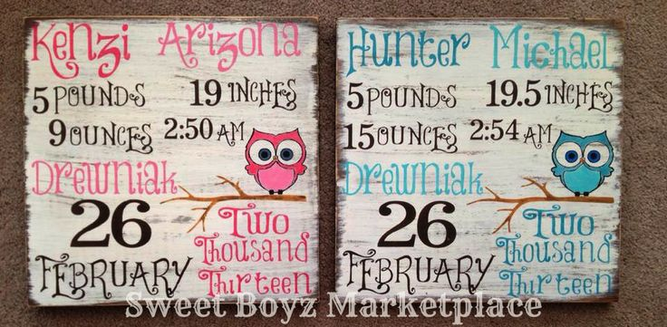 Birth Record by Sweet Boyz Marketplace