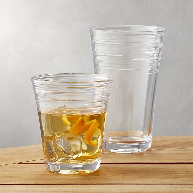 Swirl Acrylic Glasses | Crate and Barrel