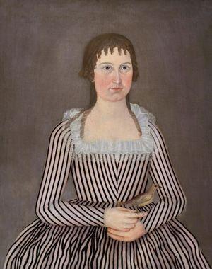 John Brewster Jr. (1766–1854)  Saco, Maine  1820  Oil on canvas  31 x 36 3/4 in.  Saco Museum, Saco, Maine