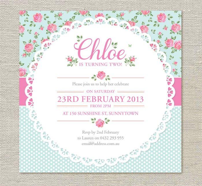 Shabby Chic Invitations - by evietheelephant on madeit