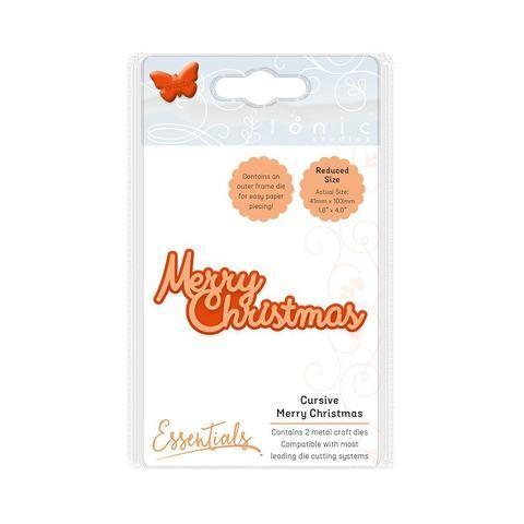 Essentials - Christmas Sentiments - Cursive Merry Christmas - 1773E - PRE ORDER-Tonic Studios