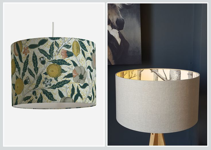 LAMPSHADES - With three items (wallpaper, self-adhesive spray and scissors) go from dull and bland to wow and grand!