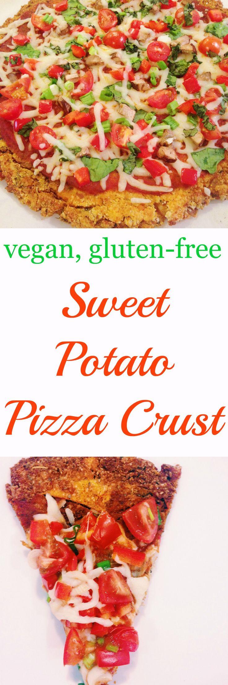 Sweet Potato Pizza Crust - vegan, gluten free