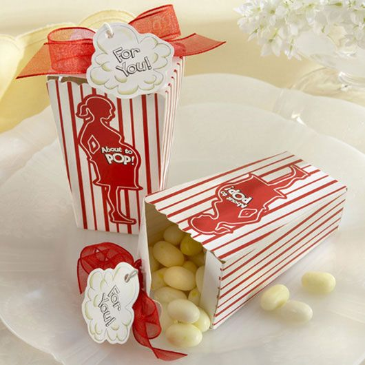 """About to Pop!"" Popcorn Baby Shower Favor Box (Set of 24)"