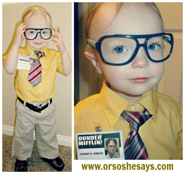This is the CUTEST!! ~ Baby Dwight Schrute Costume (and ideas for other toddler halloween costumes!)