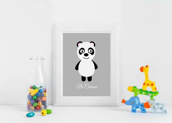 Panda Bear Nursery Decor Panda Nursery Art Panda Nursery