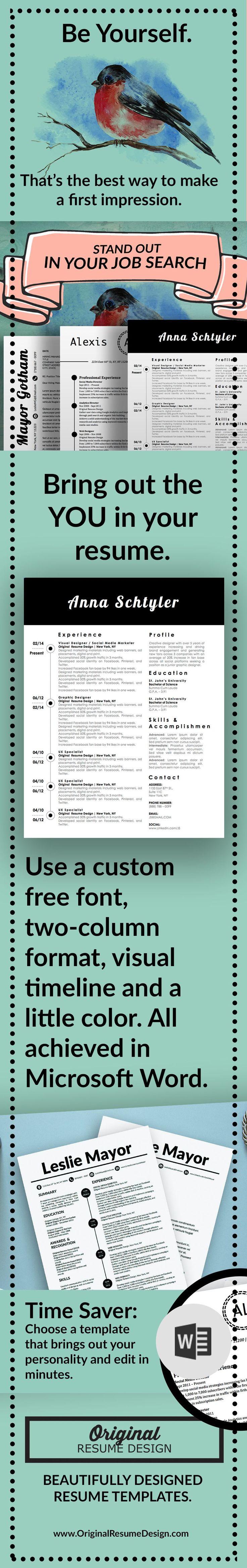 52 best Best Resume and CV Design images on Pinterest   Resume ...