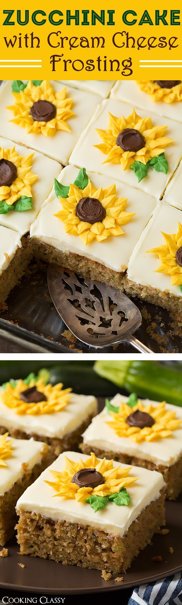 Zucchini Cake With Cream Cheese Frosting And Fruit