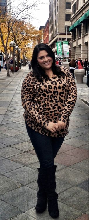 OOTD: Denver StyleI wore this outfit for a little QT with my three best friends from high school over the weekend in Denver. Cute and put together is always my goal.I love this leopard sweater I got months ago at Old Navy paired with dark denim stiletto skinnies & knee high boots from Torrid. The key to finding great statement pieces like this cozy, but light, sweater is to keep an eye out ahead of time and know what you want. Cultivating a wardrobe that works for you is like curating a beau