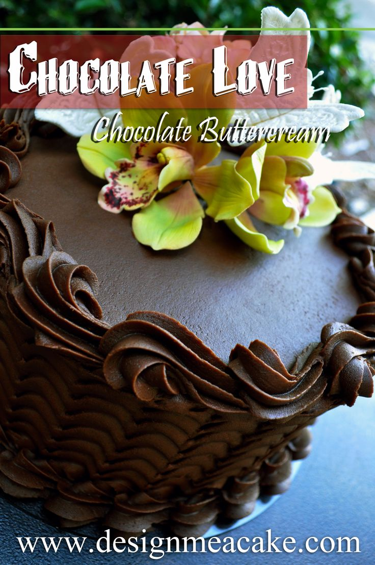 Chocolate is my addiction! I just love it! I have a great recipe in my website for a Crusting Chocolate buttercream. That recipe is great for cakes that are going to be stacked and for those who ne...