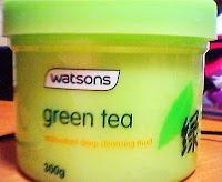 Girl in Pink Stilettos: Review: Watsons' Green Tea Antioxidant Deep Cleansing Mud