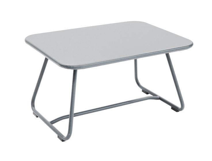 #Mobilier Sixties : #Table basse de jardin #Couleur Gris métal #Design Frédéric Sofia