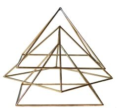 The Tri-Pyramid  The Tri-Pyramid System is a powerful clearing and balancing orgone tool. It helps to clear the auric field and to charge the body.