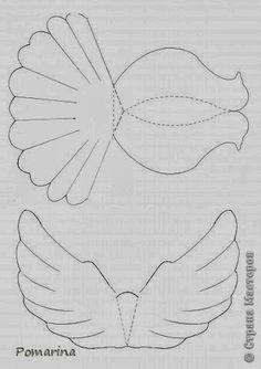 Molde de pomba voando
