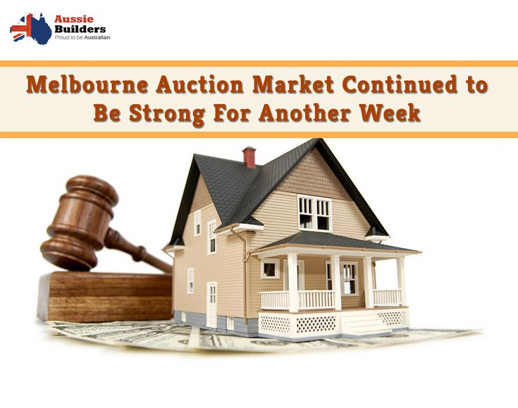 Melbourne auction market continued to be strong for another week...