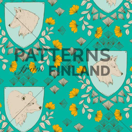 Taiga – Nothern Kings by Noora Hattunen  #patternsfromagency #patternsfromfinland #pattern #patterndesign #surfacedesign #printdesign #noorahattunen