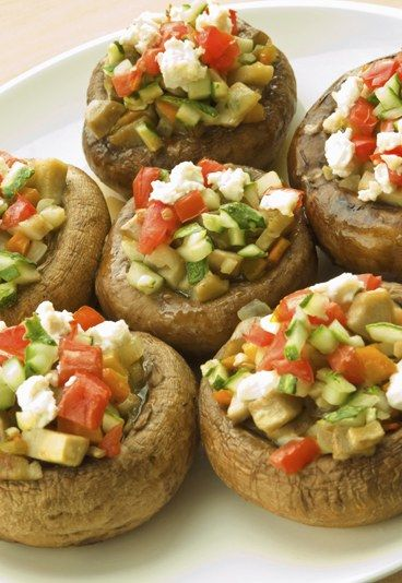Gefüllte Champignons - Die leckersten Rezepte zum vegetarisch Grillen - gofeminin