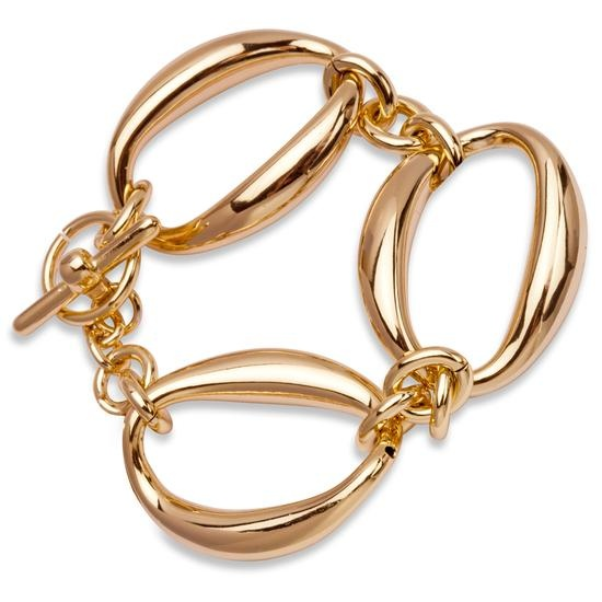 YES BRASS COLLECTION: Ekskluzywna kolekcja biżuterii pochodząca z Włoch - kraju, w którym wiele warsztatów jubilerskich kultywuje wielowiekową tradycję. Bransoletka stworzona z wysokiej jakości pozłacanego mosiądzu, o właściwościach antyalergicznych. Długość 19 cm, szerokość 30 mm.