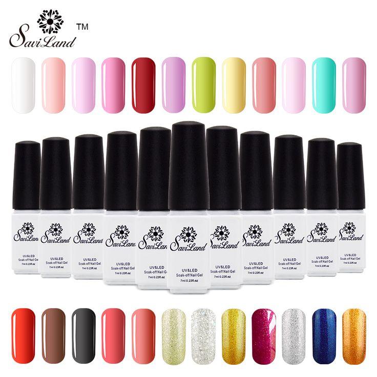 Saviland 1 pz smalto Per Unghie Un Passo Facile Uso 3 in 1 Lacca Gel Manicure Nail Art Pure Lucido Permanente 24 Colori Chiodo Gel