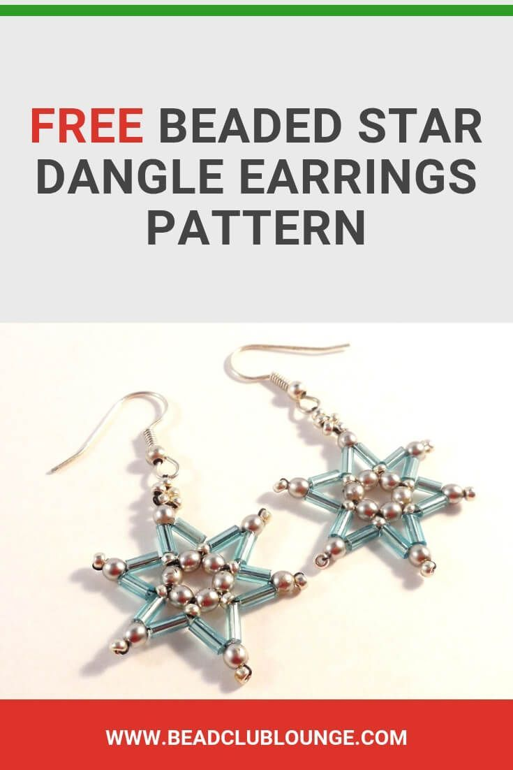 Free Beaded Star Dangle Earrings Quick And Easy Pattern