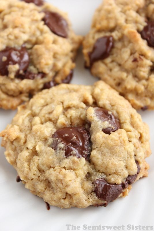 Classic Chocolate Chip Oatmeal Cookies, soft & chewy!