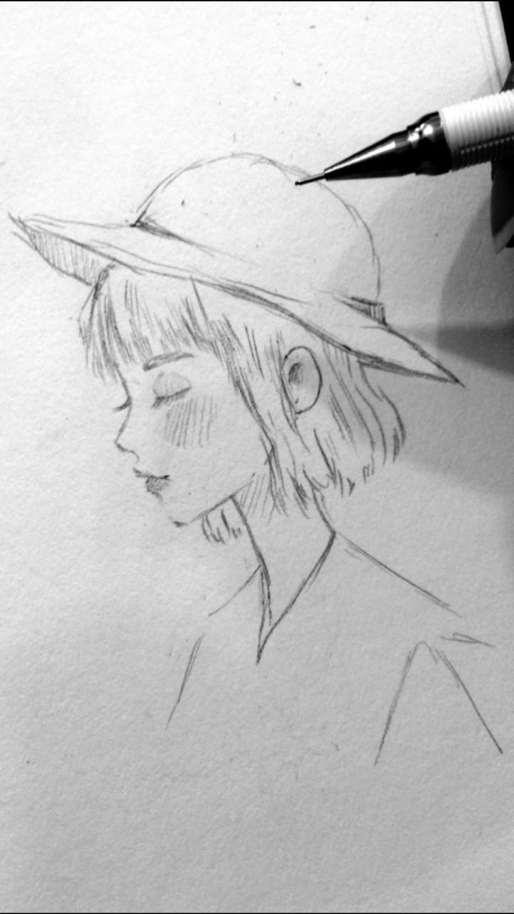 Character line drawing sketch