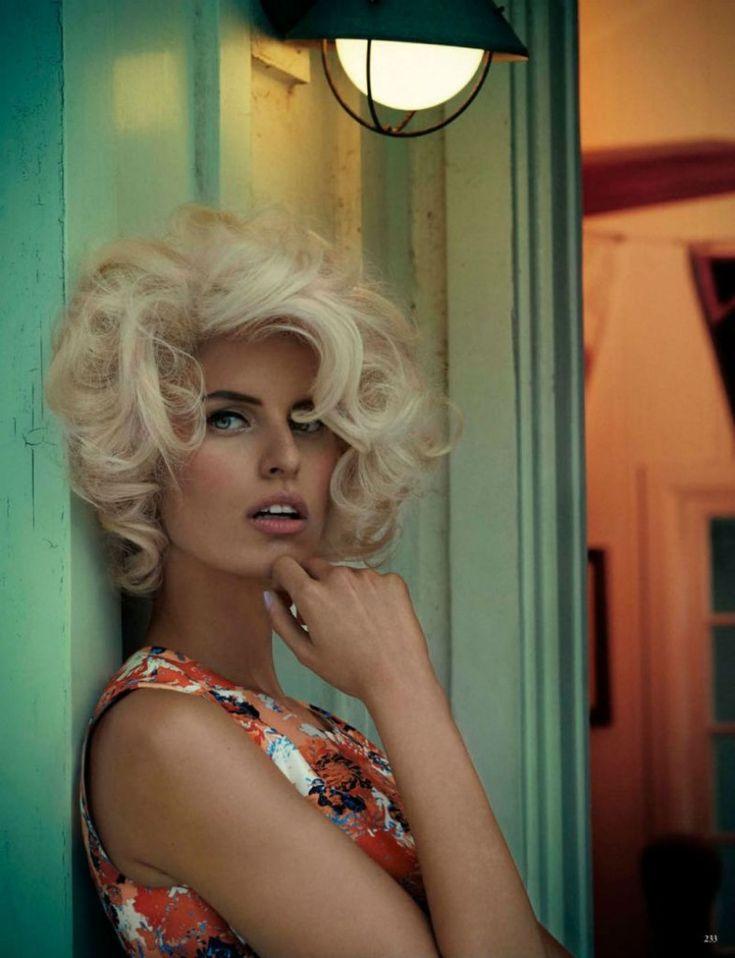 Karolina Kurkova Vogue Germany April 2013 Issue Hair Ideas Pinterest Makeup Och Inspiration