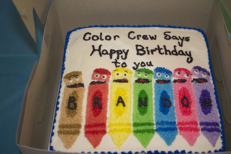 Color Crew crayon cake Crayon birthday parties, Baby