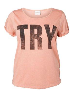 TRY S/S TOP - statement tee! #junarose #trend #tee #statement #plussize #fashion @JUNAROSE