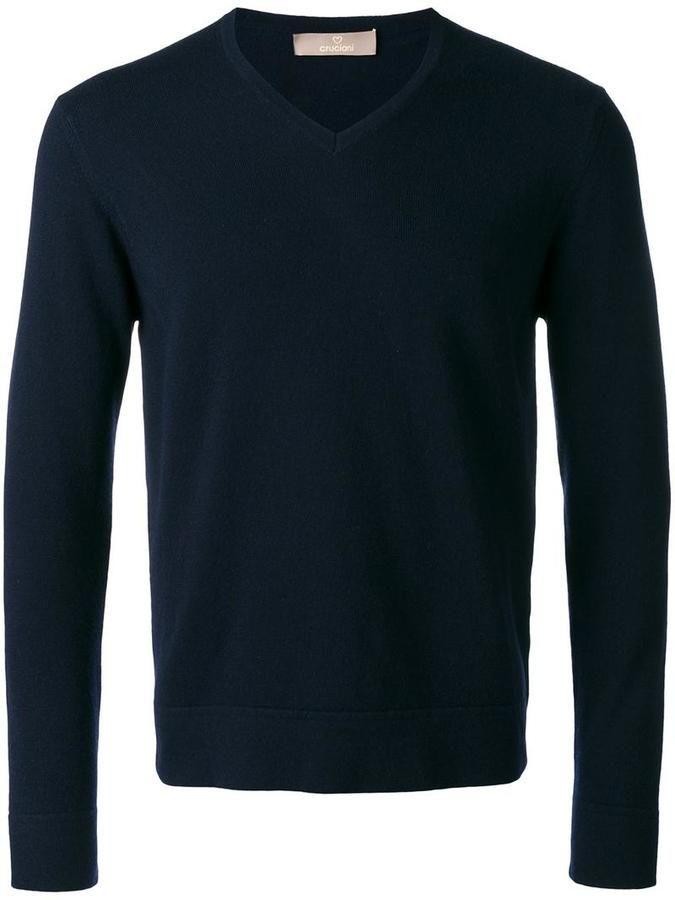 Cruciani V-neck jumper