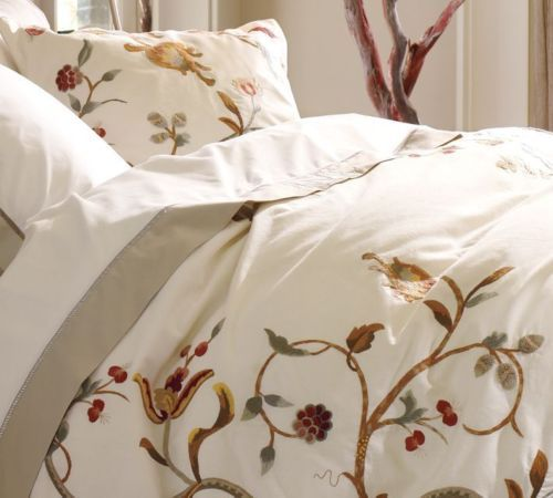 Pottery Barn Alisa Embroidered King Duvet Cover New Alissa