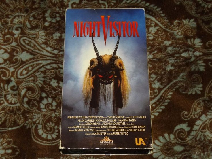 Night Visitor (VHS, 1990) Rare OOP 1st MGM/UA Video! Shannon Tweed Occult Horror