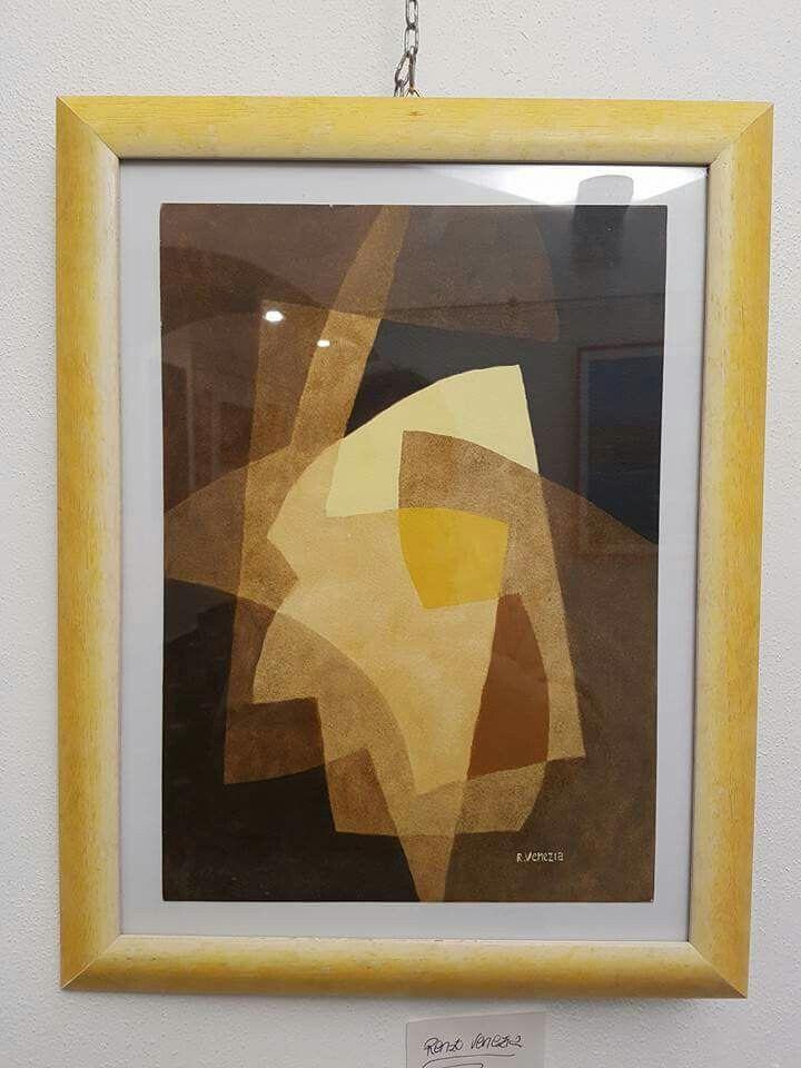 Opera degli anni 70 del maestro genovese  RENZO VENEZIA,  IN ESPOSIZIONE PRESSO LA BADALUCCO ART GALLERY