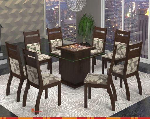 Conjunto para #Sala de #Jantar Click 5 Tabaco - Viero Móveis.  O Conjunto Sala Quadri 5 possui toda qualidade dos produtos Viero #Móveis, possui 8 cadeiras com assento e encosto estofado e tampo em vidro de 8 mm. Possui um design #moderno que deixará sua sala de jantar ainda mais bela e #elegante, ideal para quem procura #beleza agregada com resistência e durabilidade.  Por R$1.939,00 em até 10x de R$193,90 ou com 10% de desconto R$1.745,10. - http://ow.ly/qB68b