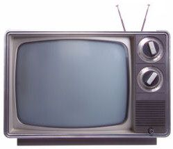 Television with rabbit ears/antennas.  There was a power button that you turned on or off, a VHF dial and UHF dial.  There were 3 basic channels that came in (5 if you were lucky) - ABC, NBC, and CBS.  Every channel 'signed-off' at midnight by closing with the National Anthem and then the signal was gone, leaving static noise.
