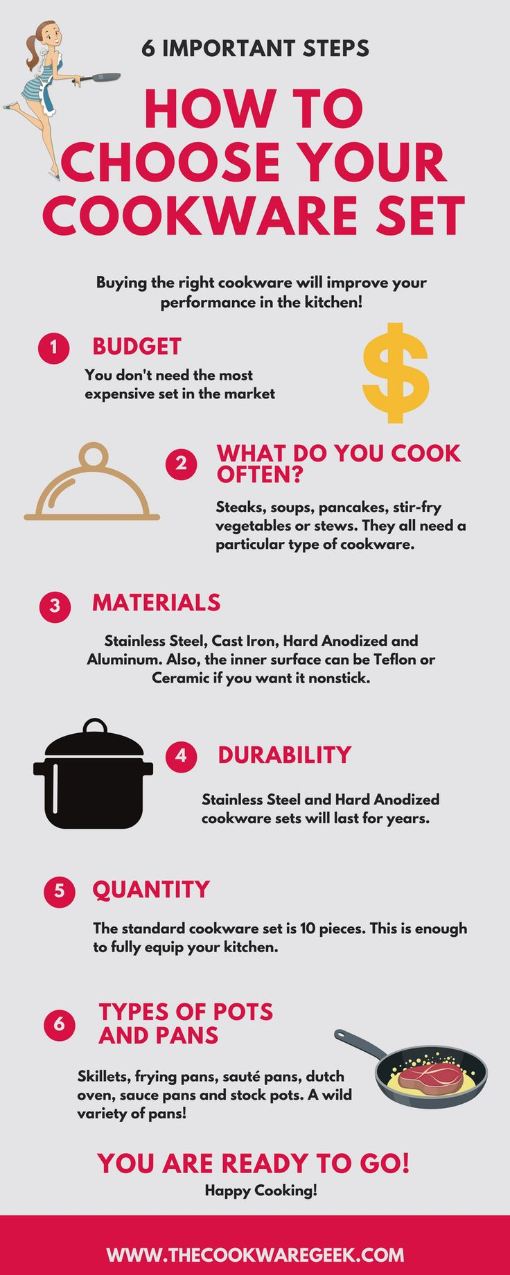 If you don't know how to choose your cookware set, this is the right article for you. Find the best cookware sets out there.