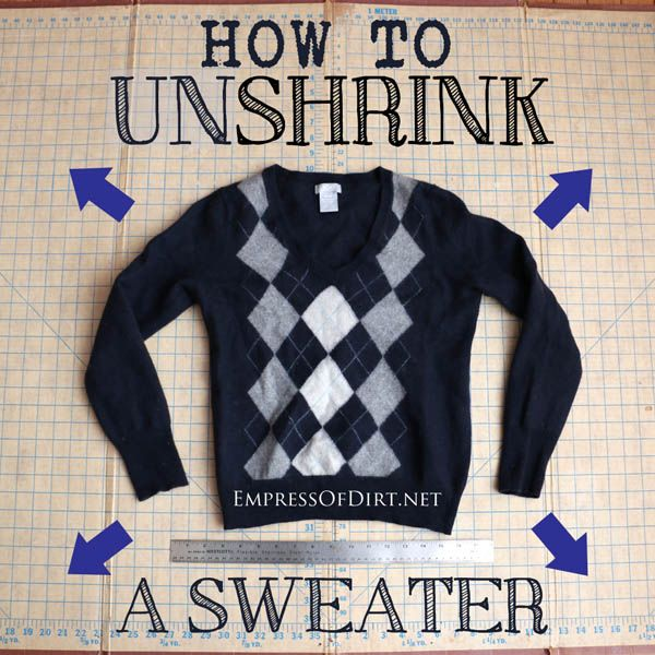 how to un shrink a wool sweater how to various pinterest unshrink clothes how to shrink. Black Bedroom Furniture Sets. Home Design Ideas