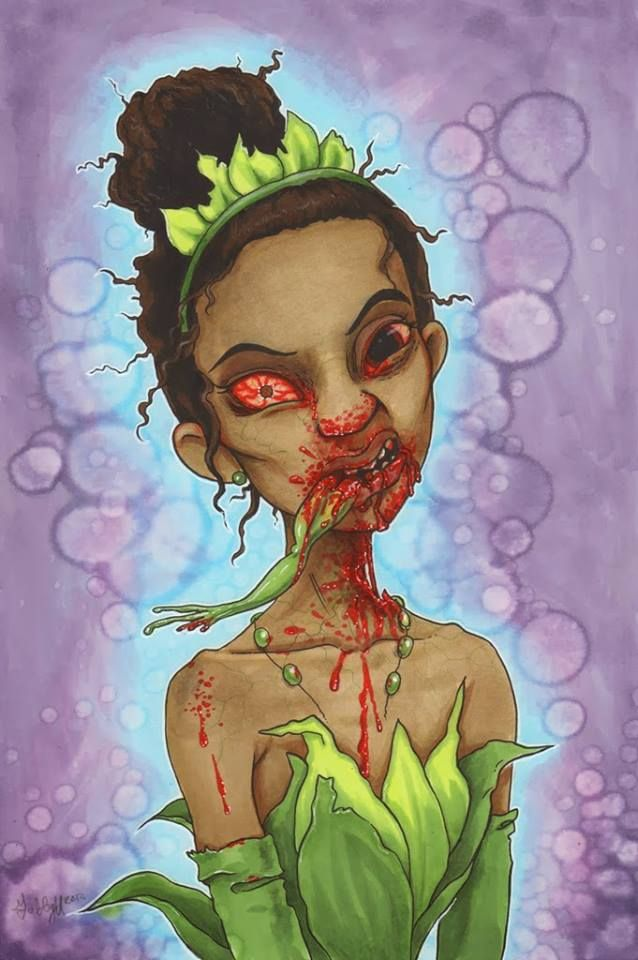 Disney Princess Zombie Art