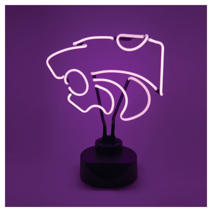 NCAA Kansas State Wildcats Table Top Neon Logo Light