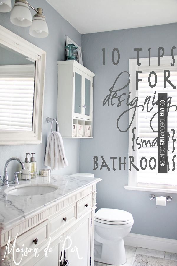 Love this - 10 tips for designing a small bathroom | CHECK OUT MORE REMODELING IDEAS AT DECOPINS.COM | #remodeling ideas #remodel #remodeling #renovate #renovating #kitchen #kitchens #bathroom #bathrooms #kitchenremodel #bathroomremodel #bathroomfacelift #homedecor #homedecoration #decor #livingroom #walls #homeaddition