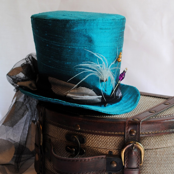 Hatter's hatIdeas, Hands, Blue, Mad Hatter Hats, Colors, The Mad Hatters, Minis Tops Hats, Steampunk, Mad Hatters Hats
