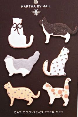 //Good Things by David: Martha by Mail ~ Cat Cookie Cutters//
