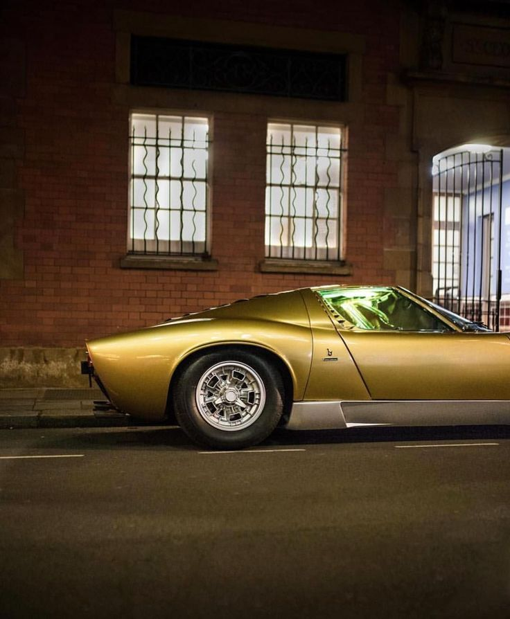 "10.7k Likes, 56 Comments - Car&Vintage® (@car_vintage) on Instagram: ""• The golden age. Lamborghini Miura • www.carandvintage.com By @paulhphoto #CarVintage #miura…"" #vintagecars"